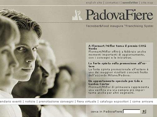 PadovaFiere – website