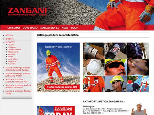 Antinfortunistica Zangani – website