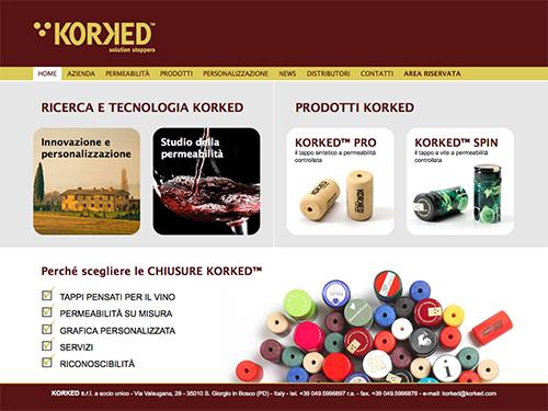 Korked – website
