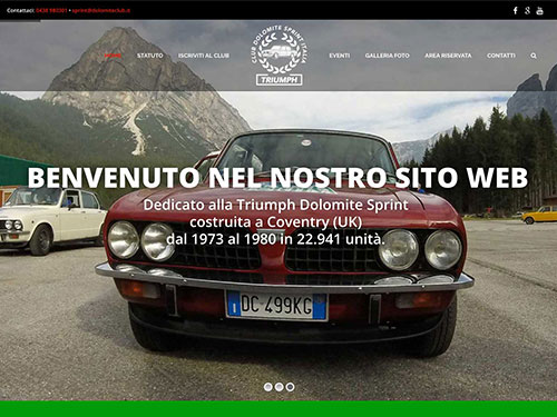 Triumph Club Dolomite Sprint Italia – website